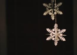 Paper snowflakes.