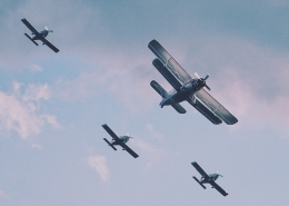 Four planes flying.