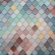 Pastel colored tiles.