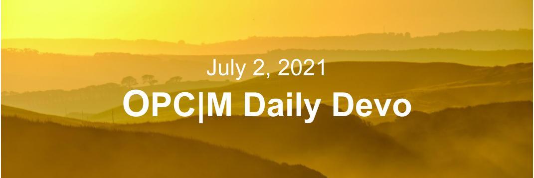 July 2nd devo image, a yellow sunset.