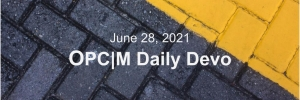 June 28th devo image, black and yellow bricks.