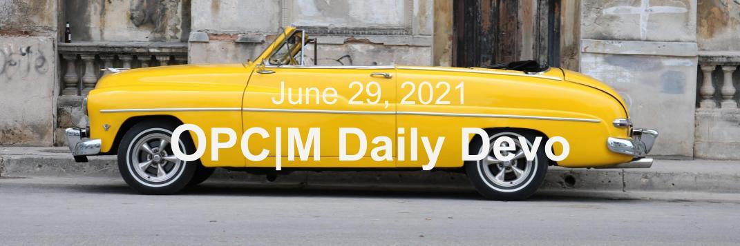 June 29th devo image, a yellow car.