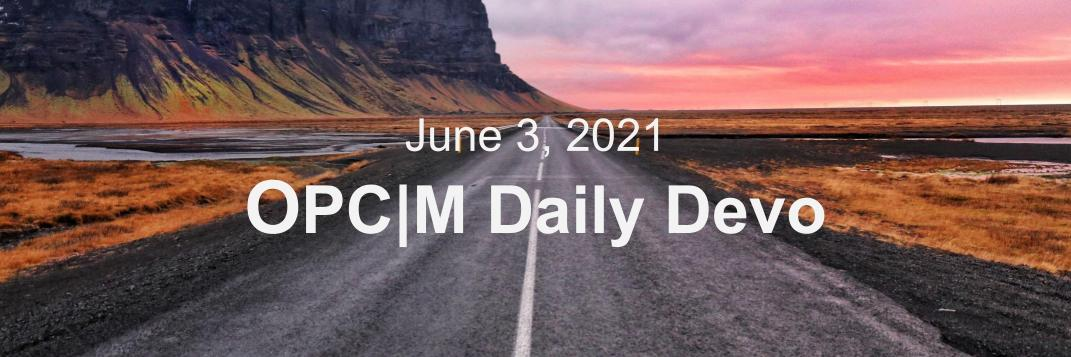June 3rd devo image, a road cutting through plains.
