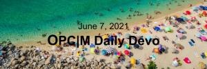 June 7th devo image, a beach.