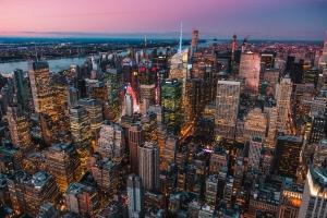 June 1 devo image, a city at sunset.