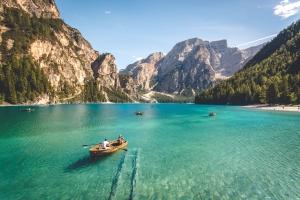 May 12th devo image, rowboats on a lake.
