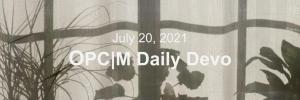 July 20th devo image, a tan curtain.