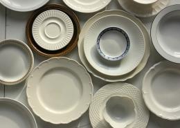 July 15th devo image, white porcelain plates.