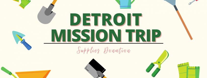 Detroit Supplies drive graphic.
