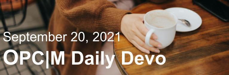 September 20th devo image, a girl holding a coffee cup.