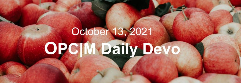 October 13th devo image, apples.