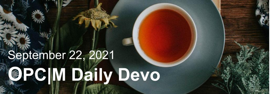 September 22nd devo image, a tea cup with flowers.