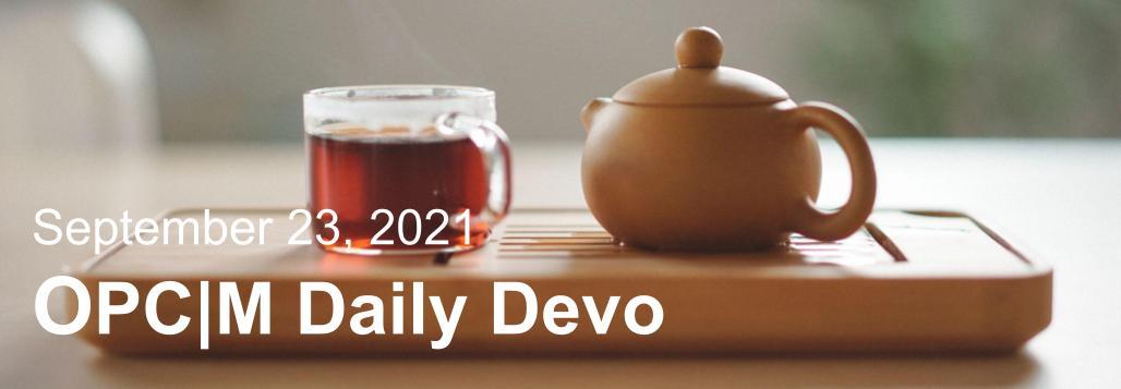 September 23rd devo image, a tea pot and cup.